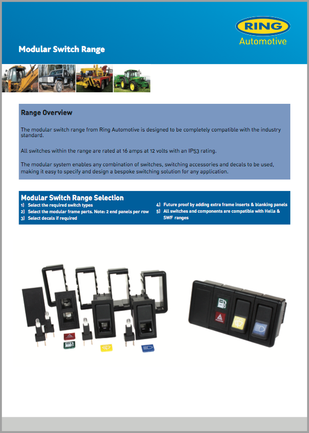 Rocker Switch Range
